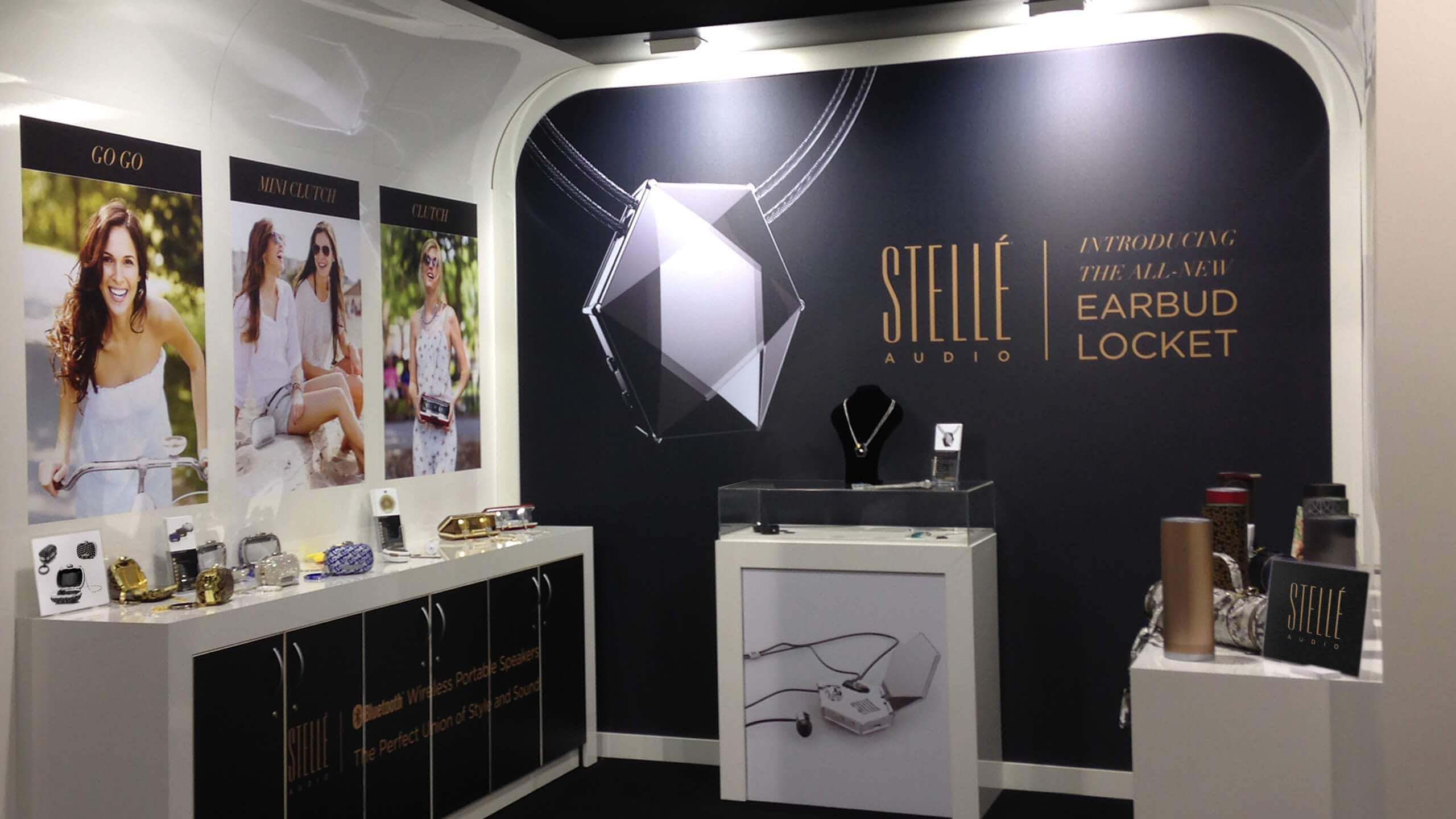 Sprout studios, Boston, industrial design, product design, start up, Environmental design, CAD, branding, trade show, booth design, stelle audio, graphic design