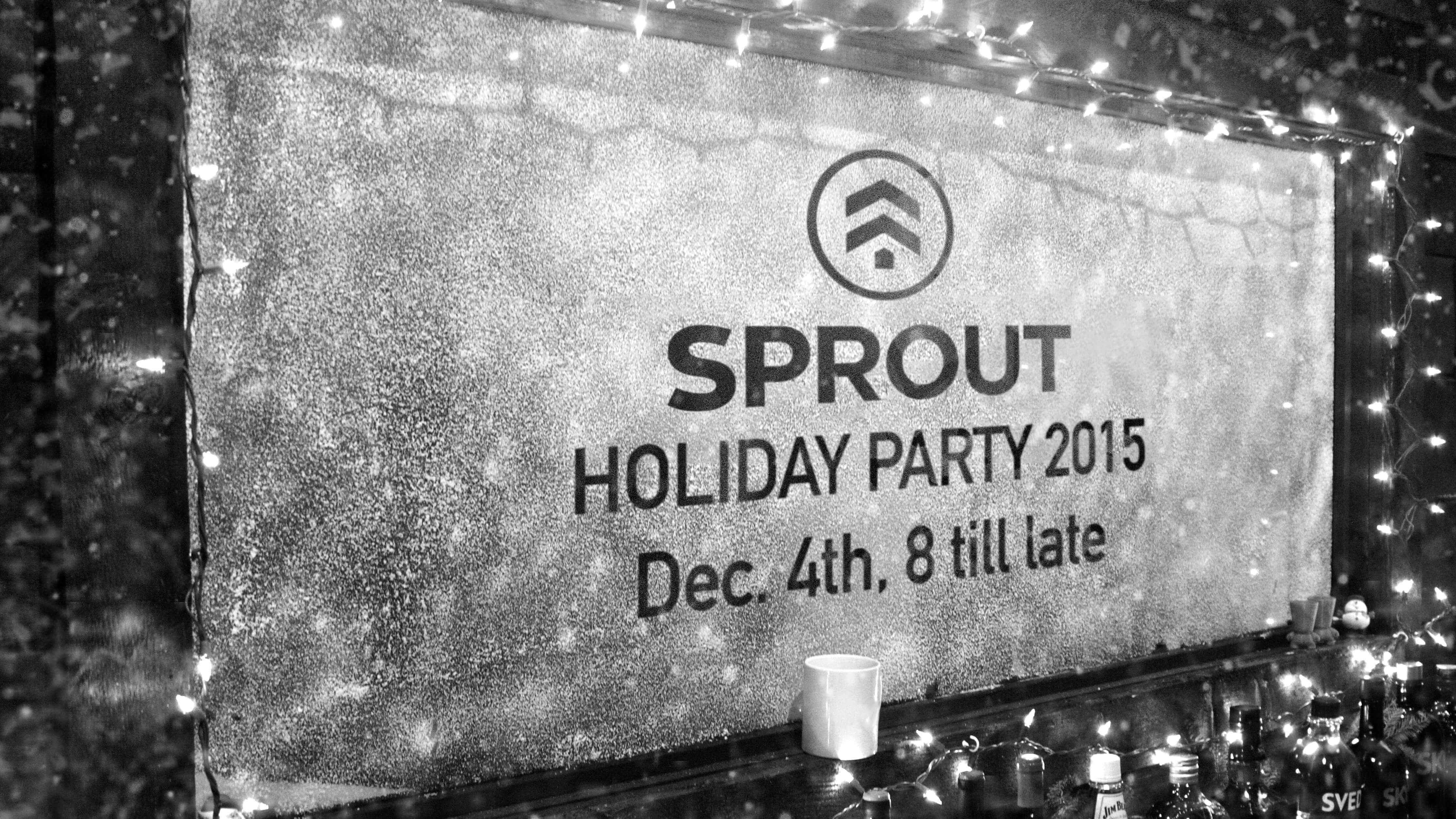 SPROUT HOLIDAY PARTY INVITE