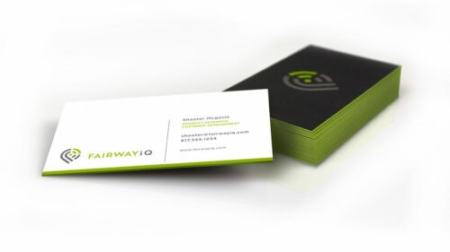 Sprout studios, Boston, industrial design, product design, start up, golf product, render cad, solidworks, branding, logo, logo design, graphic design, fairwayiq, business cards