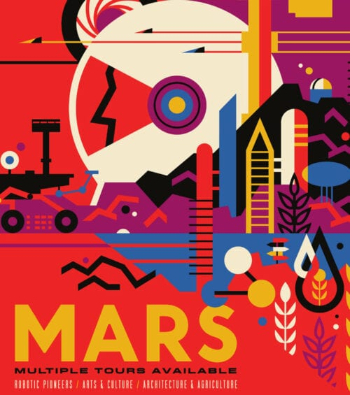 Nasa space travel poster design