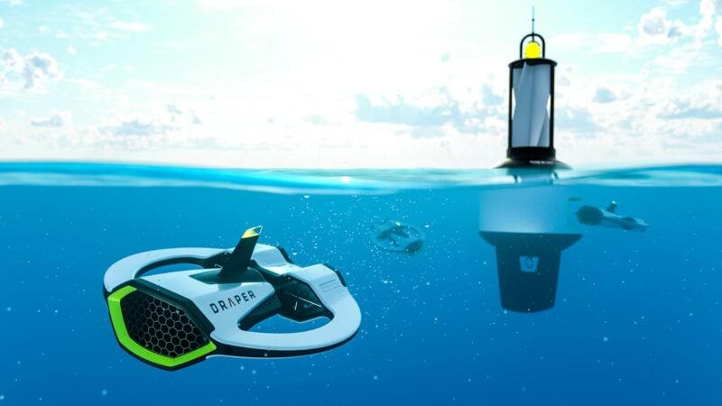Sprout studiSprout Boston industrial design Product Design Rendering DRAPER Drone Submarine Autonomous microplastic marine plastic ocean pollution ROV UAVos, Boston, industrial design, Rendering, Keyshot, DRAPER, product design, rendering,Submarine ,Drone ,Autonomous marine plastic ocean sea pollution, science, research, testing ROV,UAV
