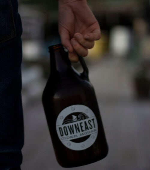 Downeast Cider's growler from their East Boston location.