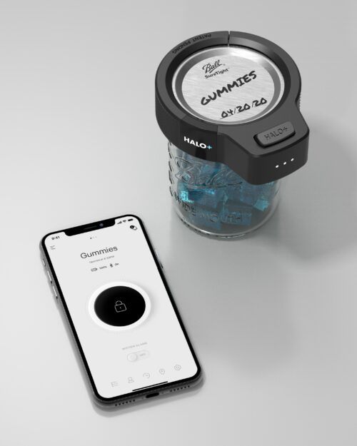 Halo+ Smart lock with Cannabis inside and app