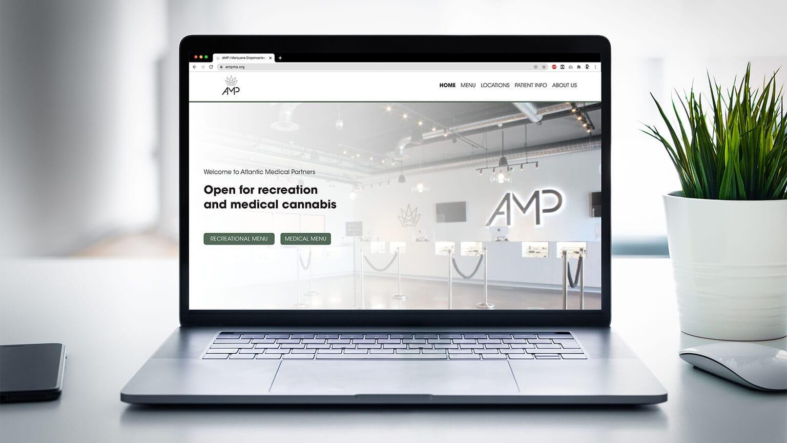 AMP Website Homepage