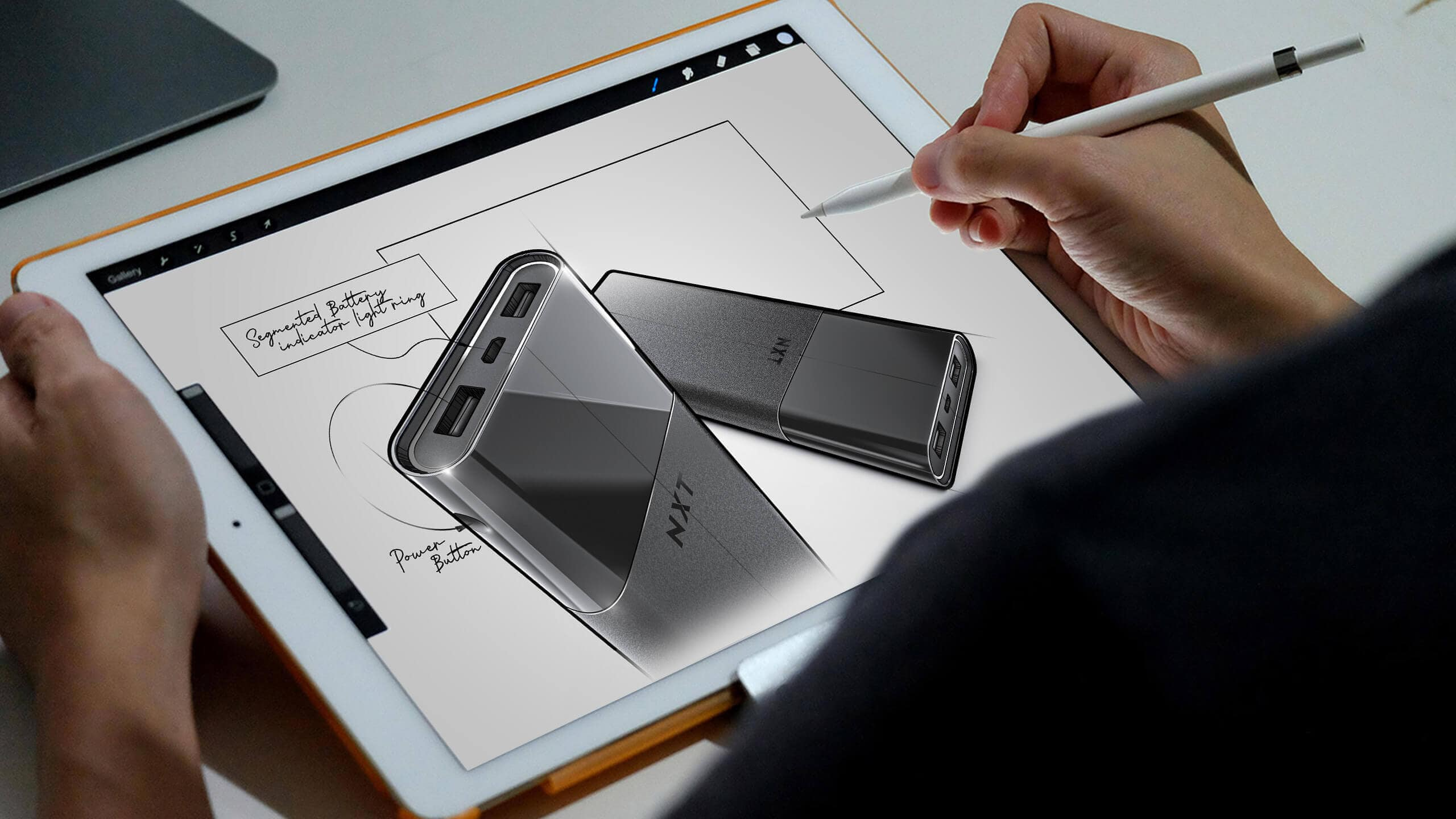 Guy Sketches a product concept