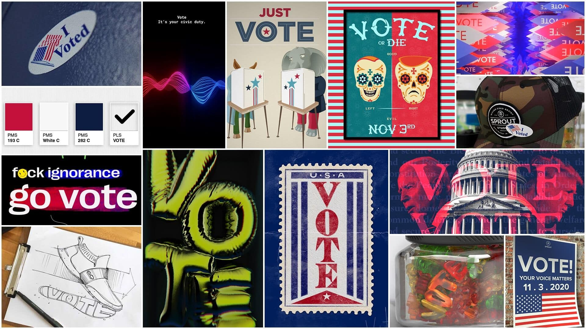 Collage of Vote Images