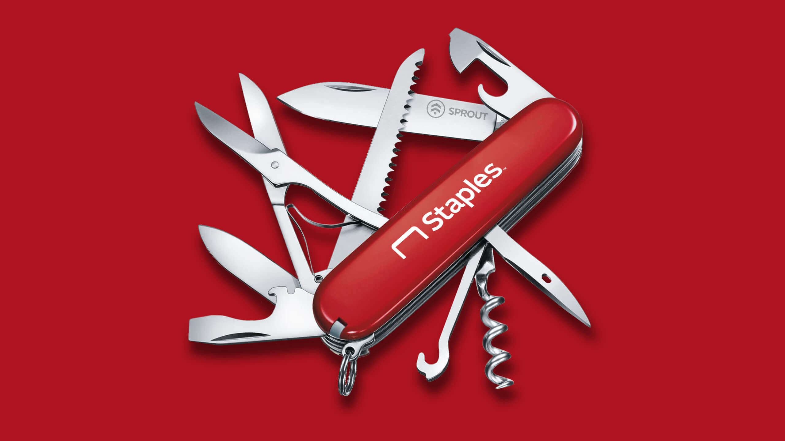 Staples Swiss Army knife CAD Render by Sprout Studios
