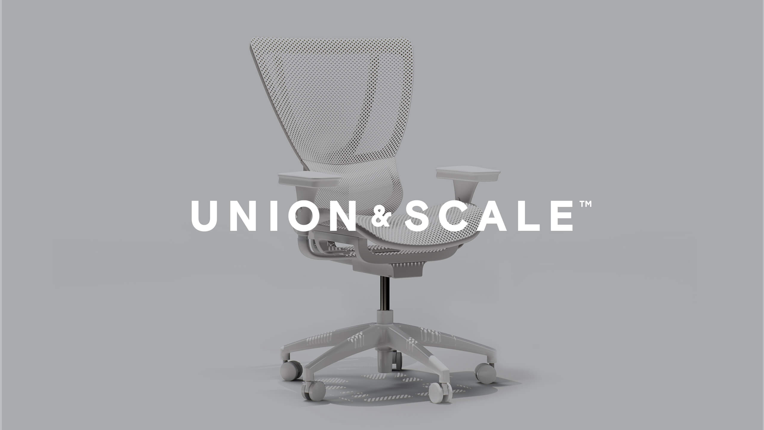 Union & Scale logo on top of a 3D CAD Render of a chair by Sprout Studios