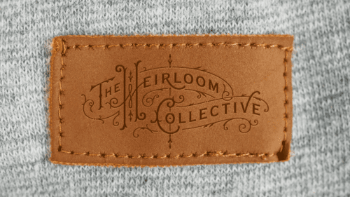 THC Embossed Leather Label