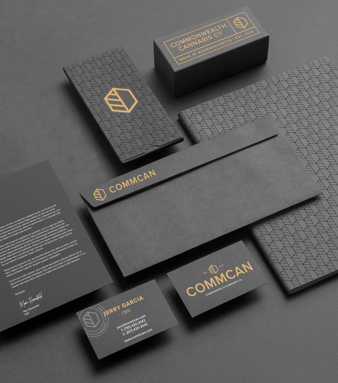 commcan commonwealth cannabis company cannabis stationary design branding