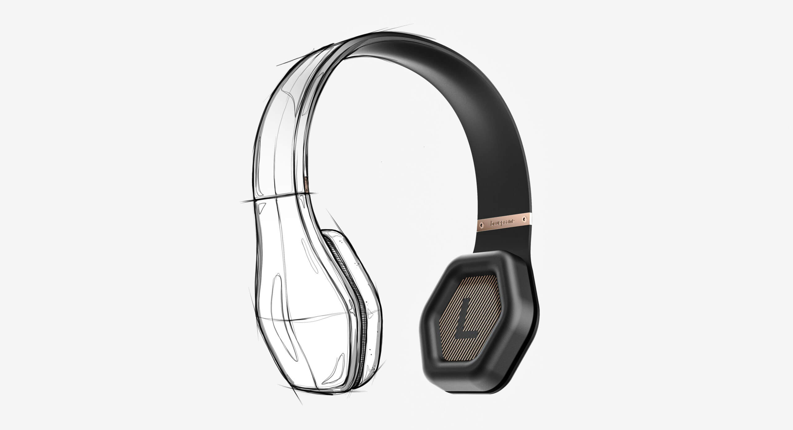 Blueflame headphones sketch to render